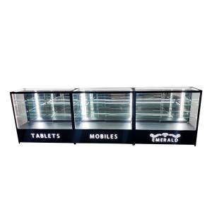 Jewelry display case locks with 2 adjustable shelves,black     OYE