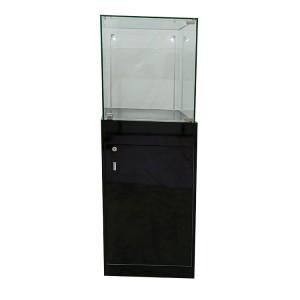 Museum pedestal display cases with Locking Drawer,led light  |  OYE