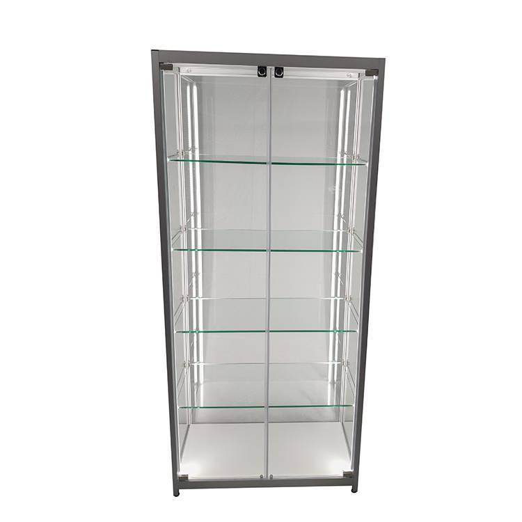 https://www.oyeshowcases.com/shop-display-cabinets-for-sale-with-led-lighting4-adjustable-shelveshinged-doors-oye-product/