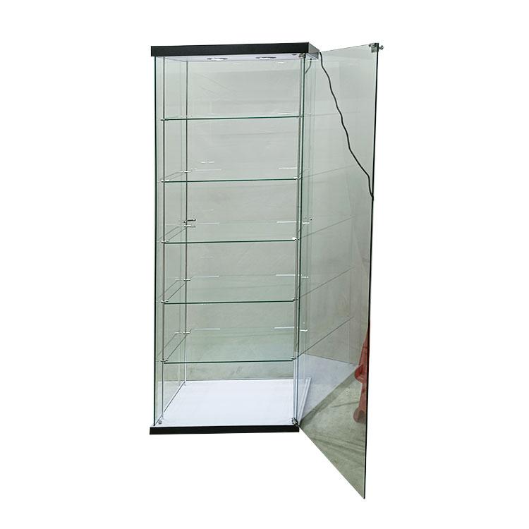 Single trophy display case with 2 led light,5 adjustable shelves  |  OYE